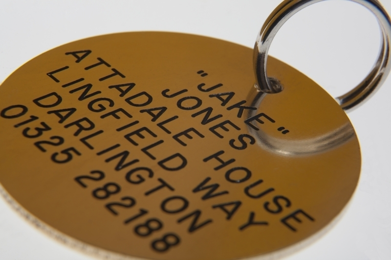 ROUND Identification Tags - Available in Brass or Silver Nicron