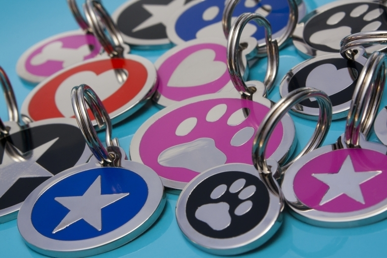 STYLED range of Dog Tags - Paw, Bone, Heart & Star