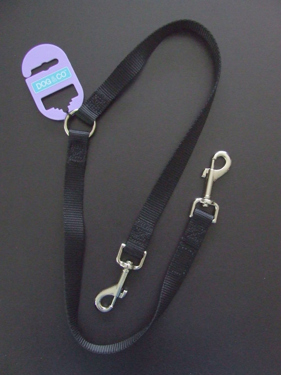 DOG & CO - Strong Nylon Dual Dog Lead - Coupler